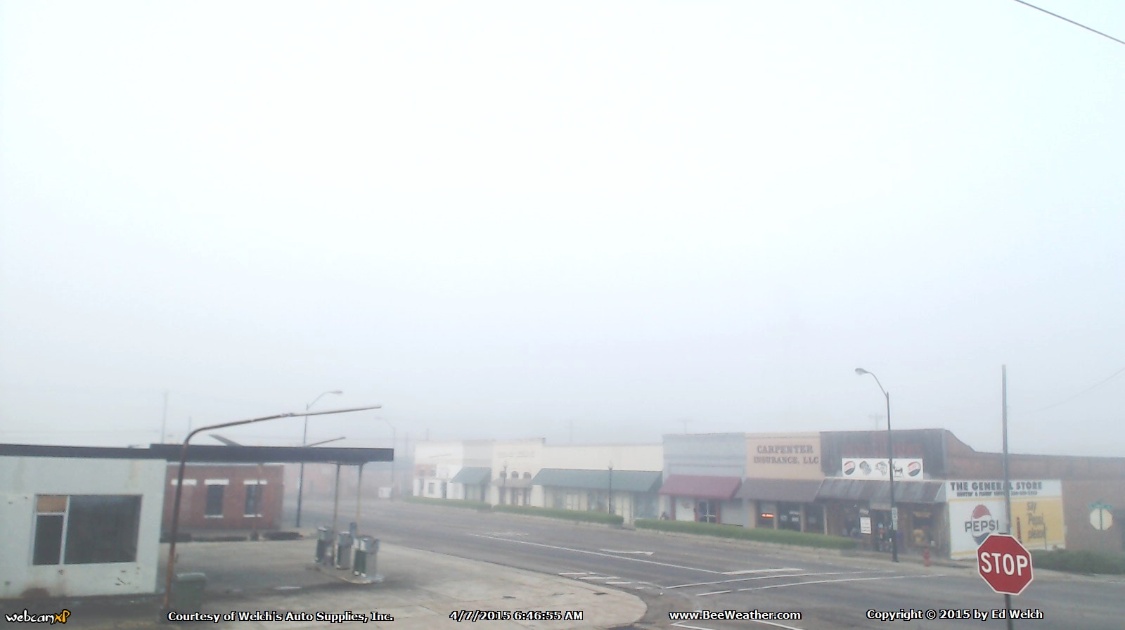 April 7, 2015 - Luverne...fogged in.