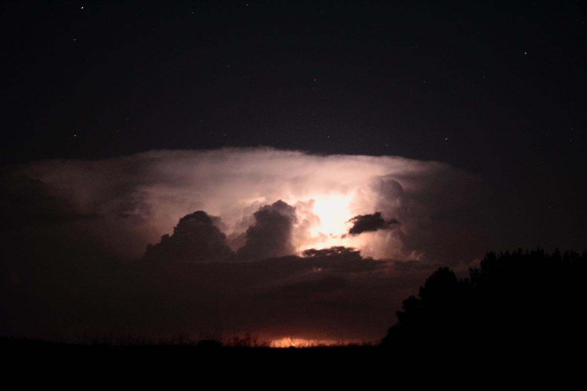 June 17, 2014 - Stars above the storm.